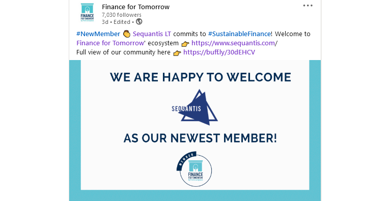 Sequantis commits to Sustainable Finance